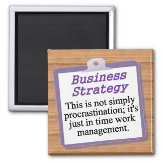 Business Strategy 2 Inch Square Magnet