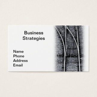 Business Strategy Railway Junction Business Card