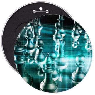 Business Strategy with a Chess Board Concept Button