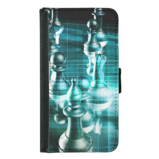Business Strategy with a Chess Board Concept Wallet Phone Case For Samsung Galaxy S5