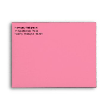 Professional Business Business Stylish Flamingo Pink Envelope