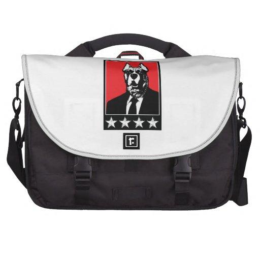 Business Suit Dog Laptop Messenger Bag