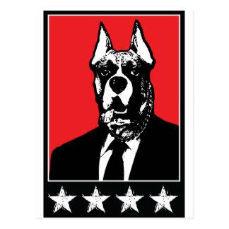 Business Suit Dog Postcard