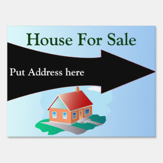 Business Supplies House for Sale Lawn Sign