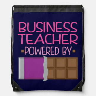 Business Teacher Chocolate Gift for Woman Drawstring Bag