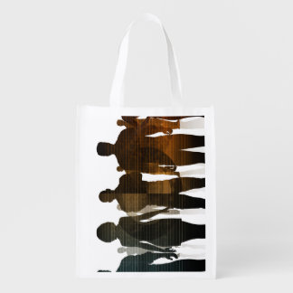 Business Team of Professionals Standing for Career Grocery Bag