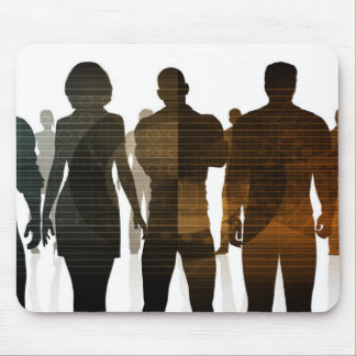 Business Team of Professionals Standing for Career Mouse Pad