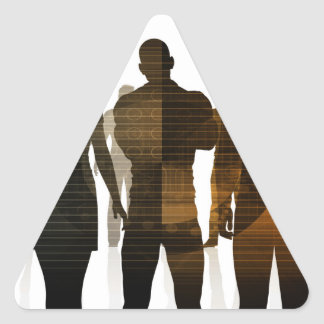 Business Team of Professionals Standing for Career Triangle Sticker