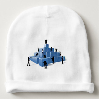Business Team People Silhouettes Building Blocks Baby Beanie