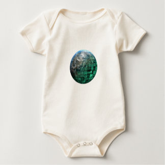Business Technology Global Network with Futuristic Baby Bodysuit