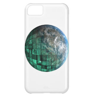 Business Technology Global Network with Futuristic iPhone 5C Cover
