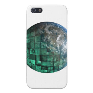 Business Technology Global Network with Futuristic iPhone SE/5/5s Case