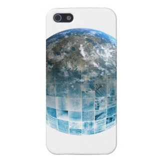 Business Technology Global Network with Futuristic iPhone SE/5/5s Cover