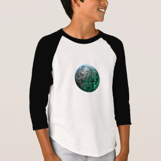 Business Technology Global Network with Futuristic T-Shirt