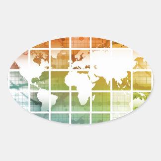 Business Technology Worldwide Oval Sticker
