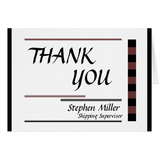 Business Thank You Stationery Note Card