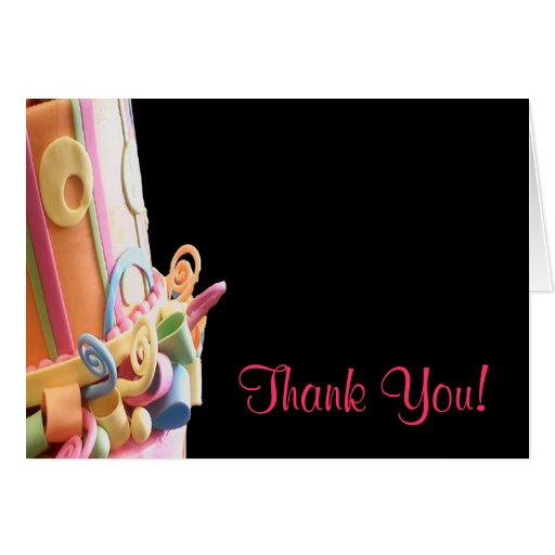 business thank you cards bakery desserts cute fun