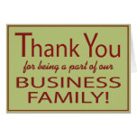 Business thank you for being a part card