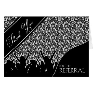 Business Thank You Referral Cards Greeting Card