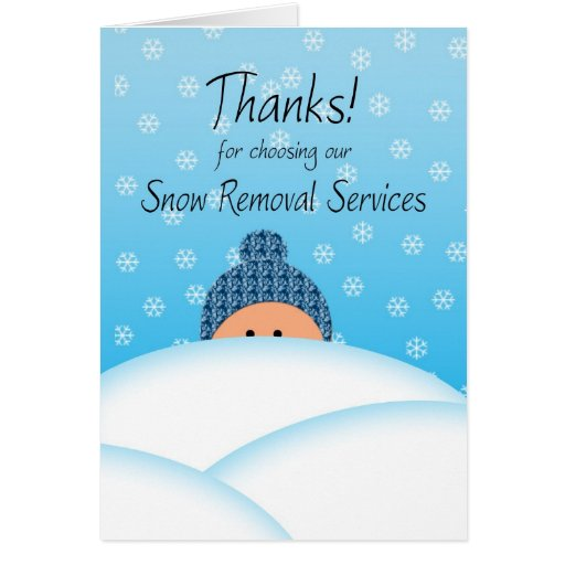 Business Thanks Customer Snow Plow Services Greeting Cards