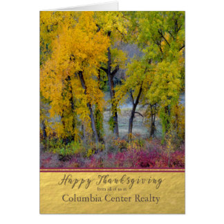 Business Thanksgiving Autumn Trees Card