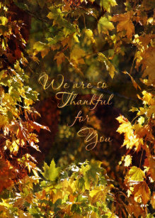 Corporate thanksgiving cards greeting photo cards zazzle business thanksgiving card autumn leaves colourmoves