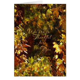 Business Thanksgiving Card / Autumn Leaves