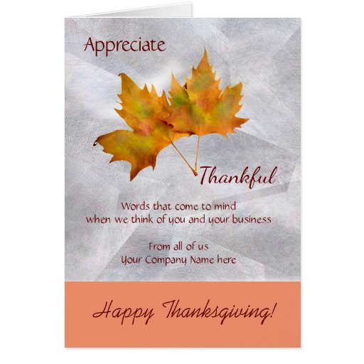Business Thanksgiving Day Greeting Card