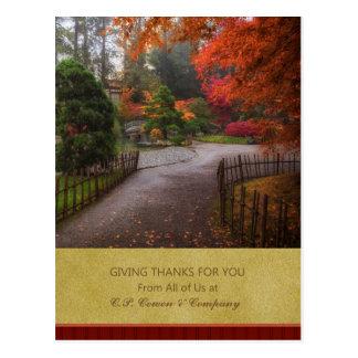 Business Thanksgiving Postcard - Autumn Path
