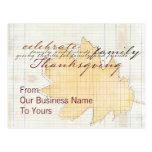 Business Thanksgivng Postcards