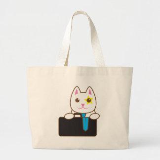 Business time Walnut cat Canvas Bag