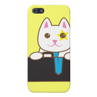 Business time Walnut cat Cover For iPhone SE/5/5s