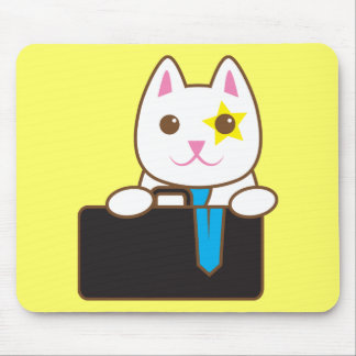 Business time Walnut cat Mouse Pad