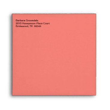 Professional Business Business Traditional Coral Pink Envelope