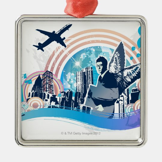 Business Travel Metal Ornament