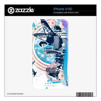 Business Travel Skin For The iPhone 4