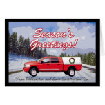 Business Truck Logo Contractor Christmas Greeting Cards