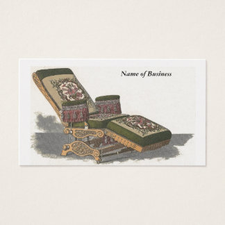 Business Vintage Barber Chair Business Card
