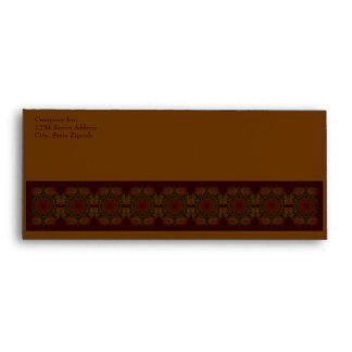 Business Vintage Fractal Polygons Brown Envelope