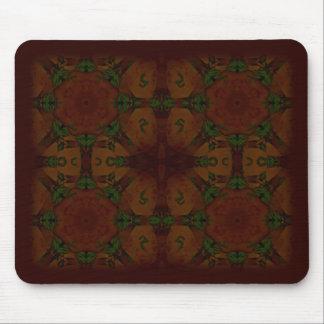 Business Vintage Fractal Polygons Brown Mouse Pad