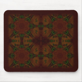 Business Vintage Fractal Polygons Brown Mousepads