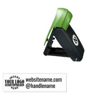 Business website and handle with Logo Pocket Stamp