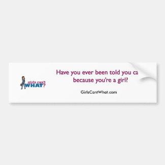 Business Woman Bumper Sticker