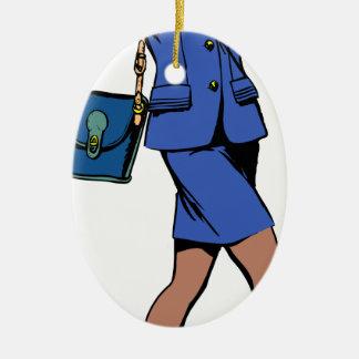 Business Woman Ceramic Ornament