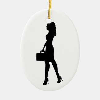 Business Woman Ceramic Ornament