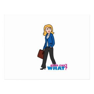 Business Woman - Light/Blonde Postcard