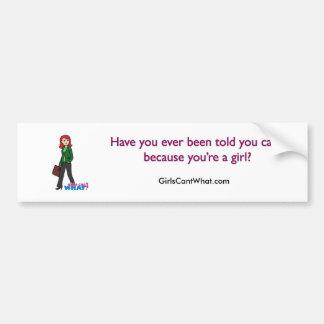 Business Woman Light/Red Bumper Sticker