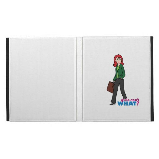 Business Woman Light/Red iPad Cases
