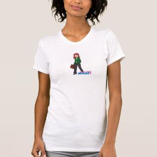 Business Woman Light/Red T-Shirt