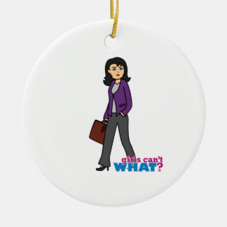 Business Woman - Medium Ceramic Ornament